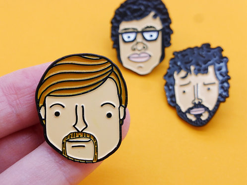Murray from the Flight of the Conchords Enamel Pin Badge