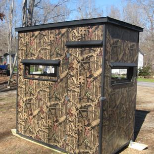 Mossy Oak 4' x 6' on Skids Back View
