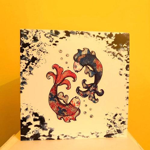 Koi Fish Greetings Card