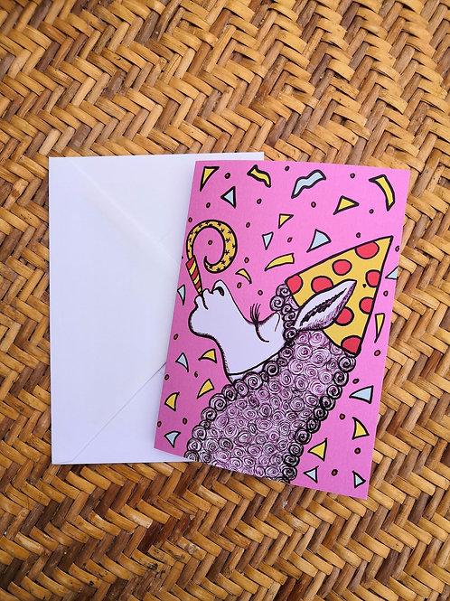 Party Llama Card