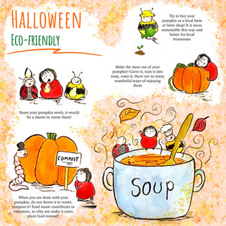Eco Halloween - With Scarlet Red