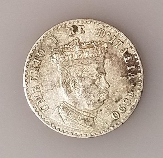 50 Centesimi 1890-M Italian Eritrea Umberto I