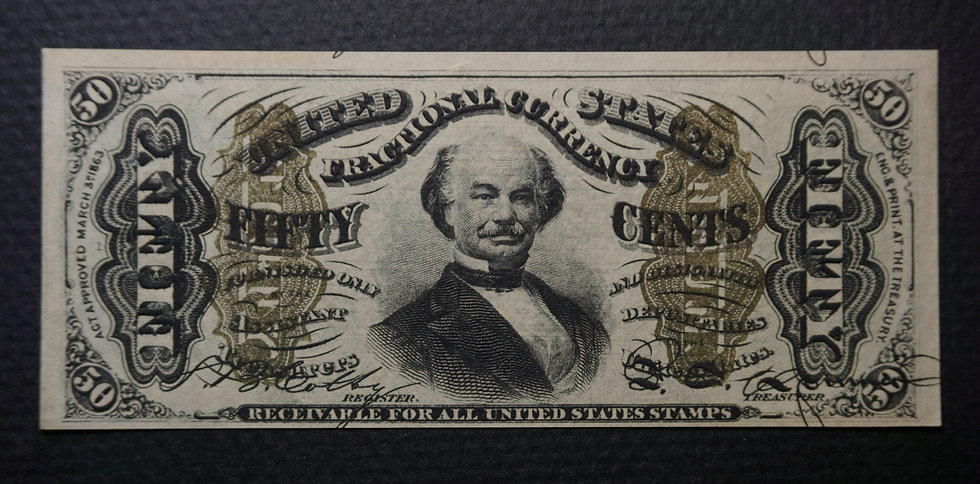 Fr. 1337 50¢ Third Issue Spinner Note Crisp Uncirculated