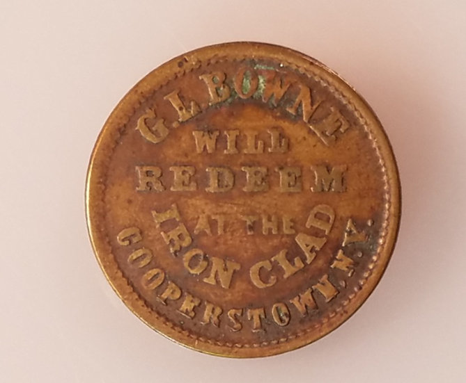 1860's Bingham & Jarvis obverse/G.L. Bowne Reverse merchant token