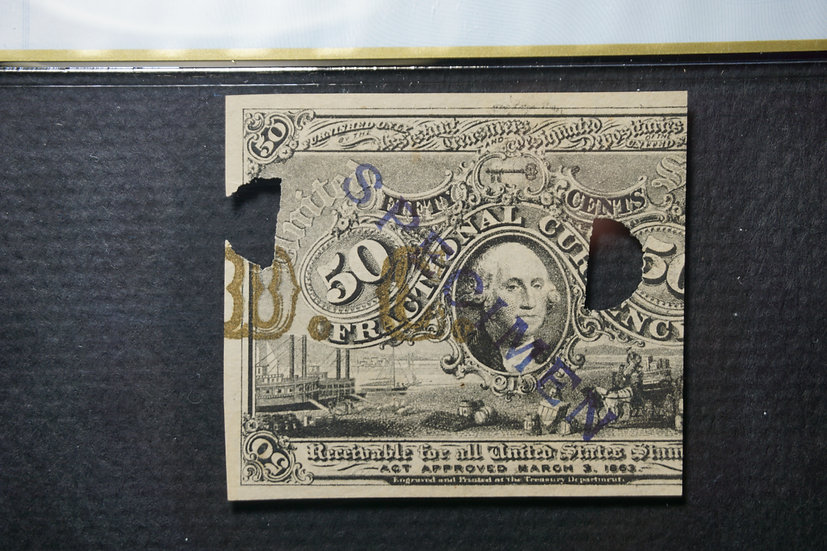 Fr 2E50F.2a Second Issue 50¢ Experimental Fractional with Bold DC Bronzing