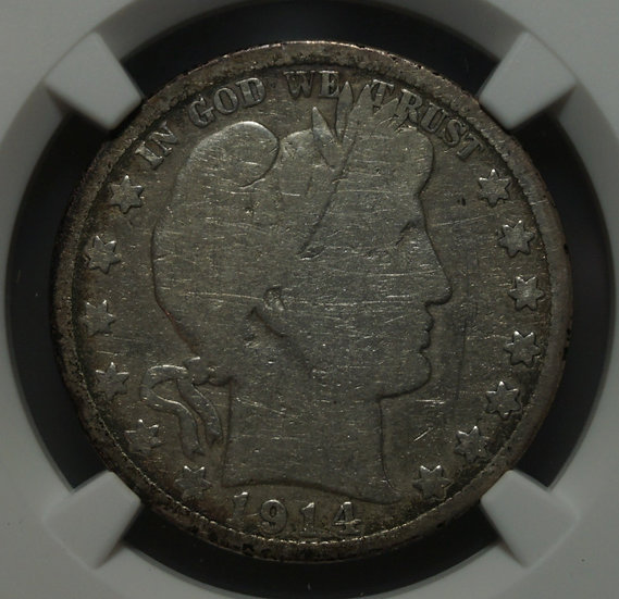 1914 Barber Half Dollar NGC Good (Cleaned)