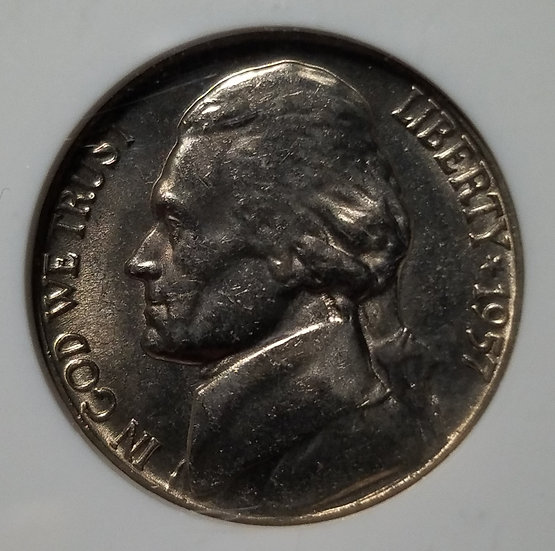 1957-D 5¢ Jefferson Nickel NGC MS66FS
