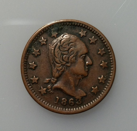 1863 New York Patriot Token VF