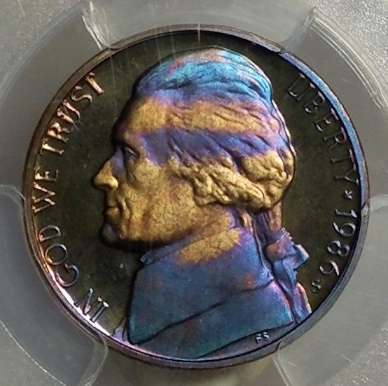 1986-S 5¢ Jefferson Proof  - Nicely Toned PCGS PR67DCAM QA