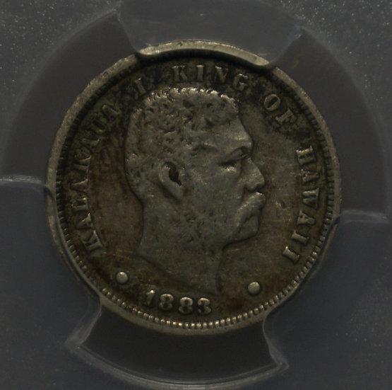 10c 1883 Kingdom of Hawaii Dime PCGS VF30