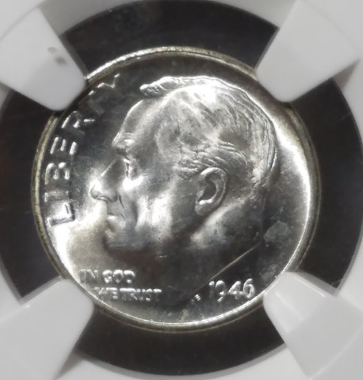 1946-S 10¢ Roosevelt Dime NGC MS65FT