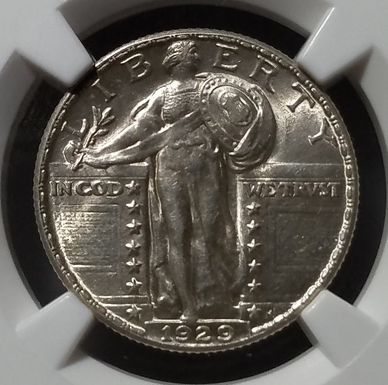 1929 25¢ Standing Liberty Quarter NGC AU55 Full Head