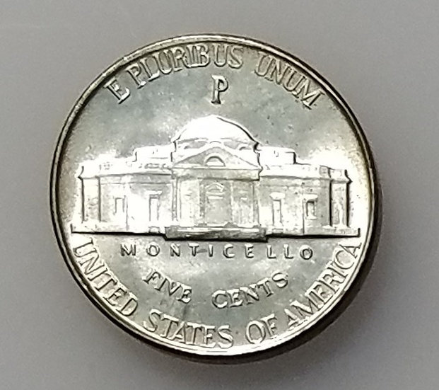 1943-P/P/P 5¢ Jefferson Nickel RPM-19 MS65