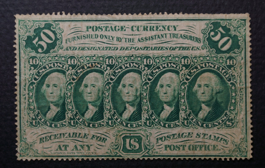Fr 1311 50¢ First Issue Fractional - Perforated F - VF