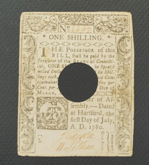 July 1, 1780 Connecticut 1 Shilling Note CT-234