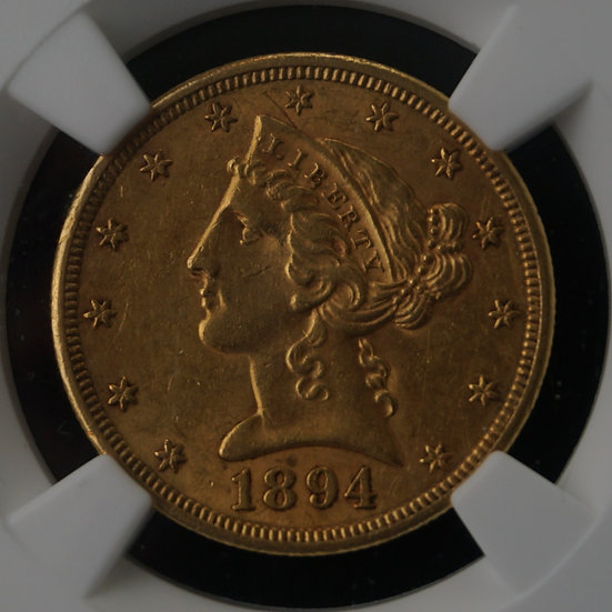 1894-S $5 Liberty Head Half Gold Eagle NGC AU58