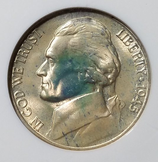 1945-S 5¢ Jefferson Wartime Nickel NGC MS66*