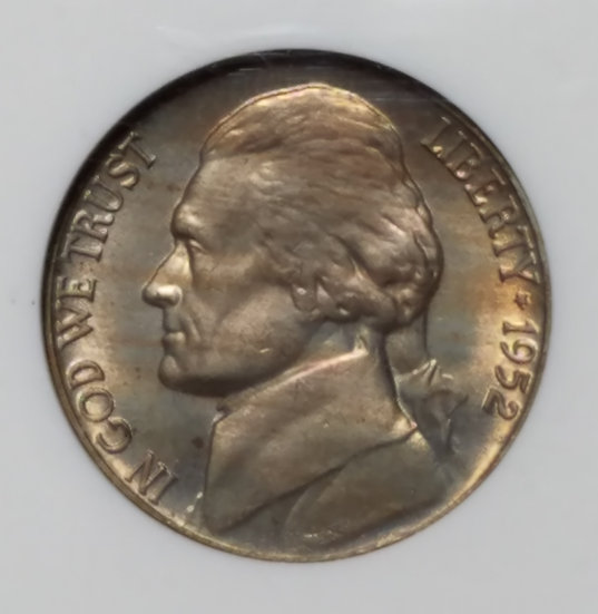 1952 5¢ Jefferson Nickel NGC MS66