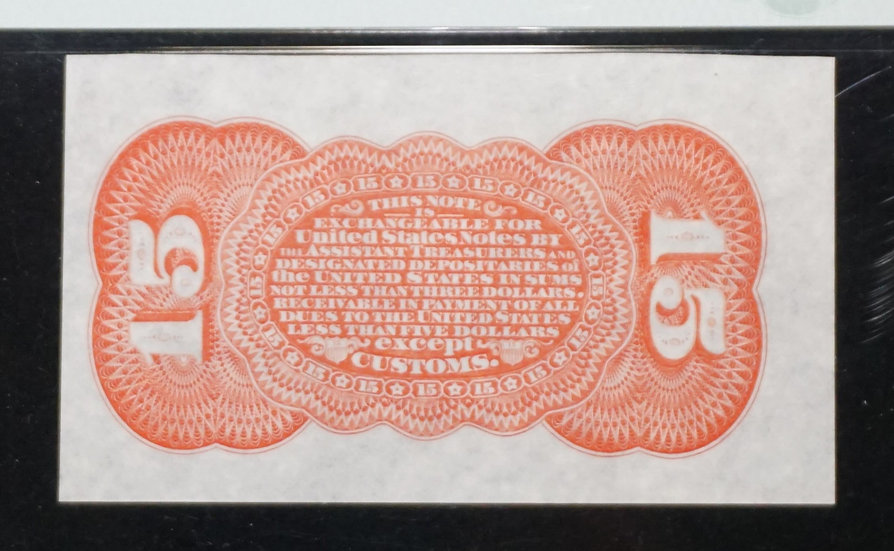 Fr 1273-5 spwmb 15¢ Grant/Sherman Fractional Currency Third Issue PMG CU63