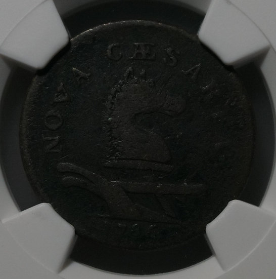 1786 New Jersey Colonial Beam Straight Copper NGC Fine - Details