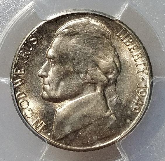 1949-S 5¢ Jefferson Nickel PCGS MS65FS
