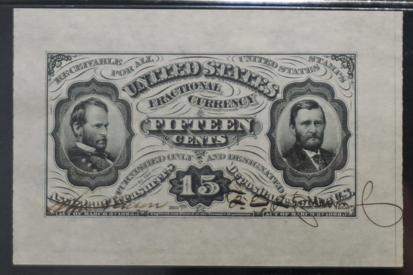 Fr 1275-3 spwmf/b Pair 15¢ Hand Signed Fractional Currency 3rd Issue