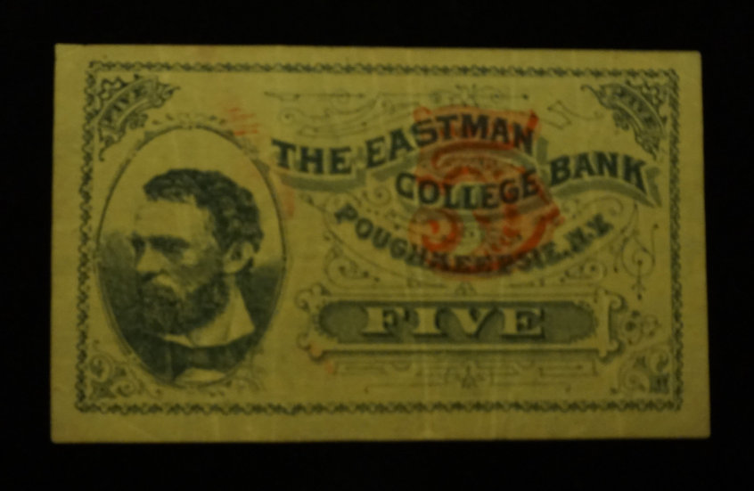 5¢ Fractional look-a-like The Eastman College Bank - Poughkeepsie, NY