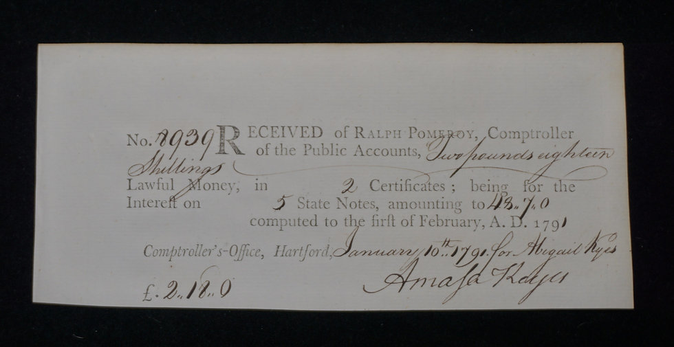 Feb 1, 1790 £2.18s CT Colonial Note signed by Arnold Keyes