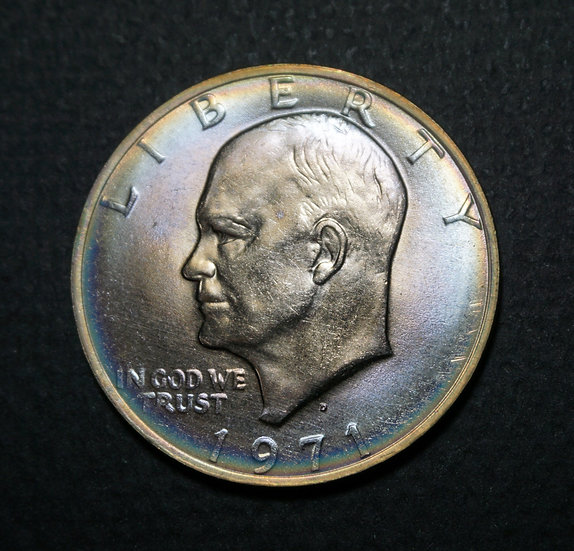 1971-D $1 Eisenhower Dollar MS65 Halo Toning