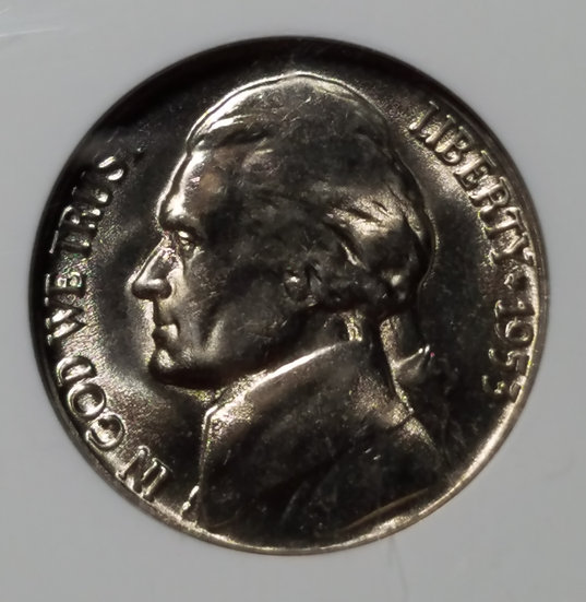 1953-D 5¢ Jefferson Nickel NGC MS65FS