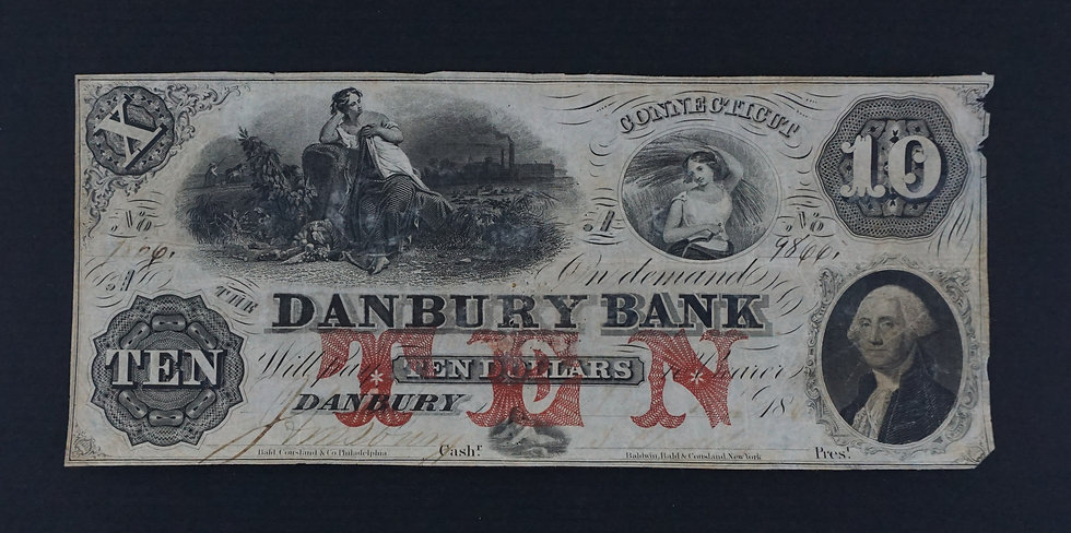 $10 The Danbury Bank Counterfeit Bank Note