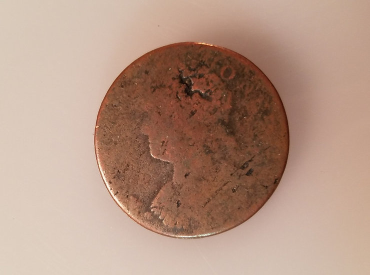 1787 Connecticut Copper Mailed Bust (Facing Left) Fair Condition (R4)