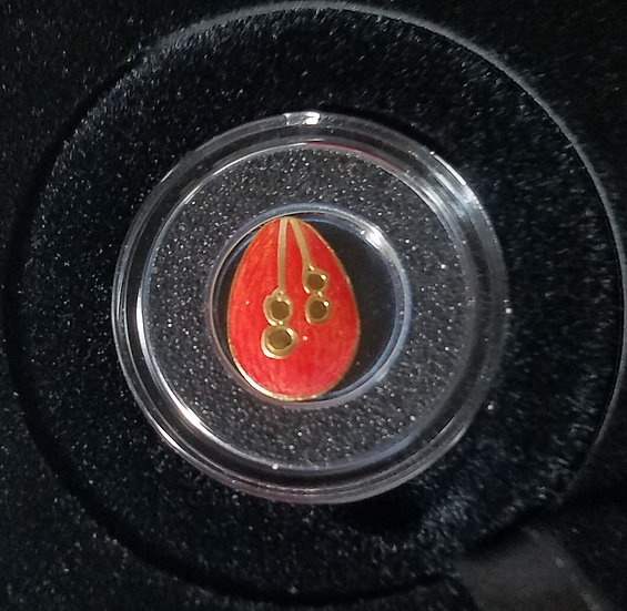 2016 Palau - 1/2 gram gold Faberge Egg No 2 with box