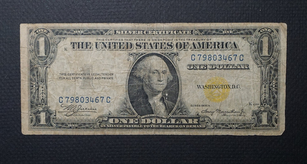 $1 1935-A North African Note Fine Fr 2306
