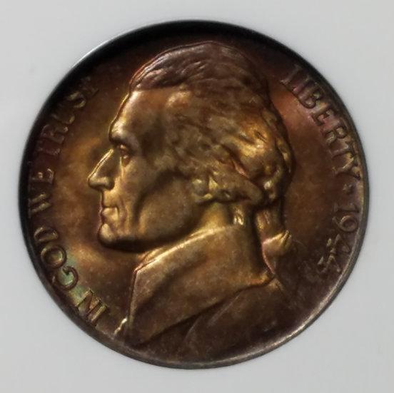 1944-P 5¢ Jefferson Wartime Nickel NGC MS65