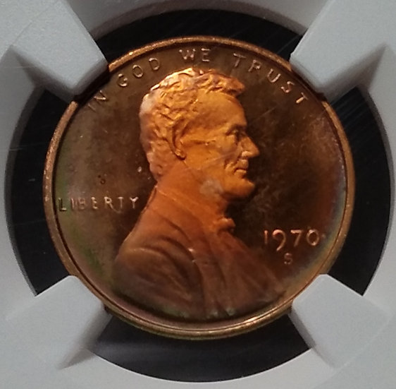 1970-S Small Date 1¢ Lincoln Penny NGC PF67*RB