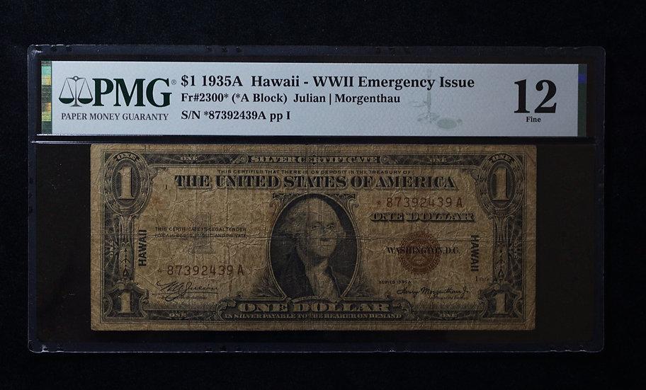 $1 1935-A Hawaii Star Note PMG F12 Fr 2300*