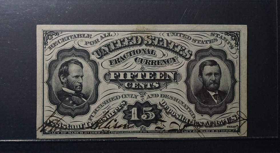 Fr 1275 spnmf 15¢ Hand Signed Fractional Currency Third Issue PMG CU64