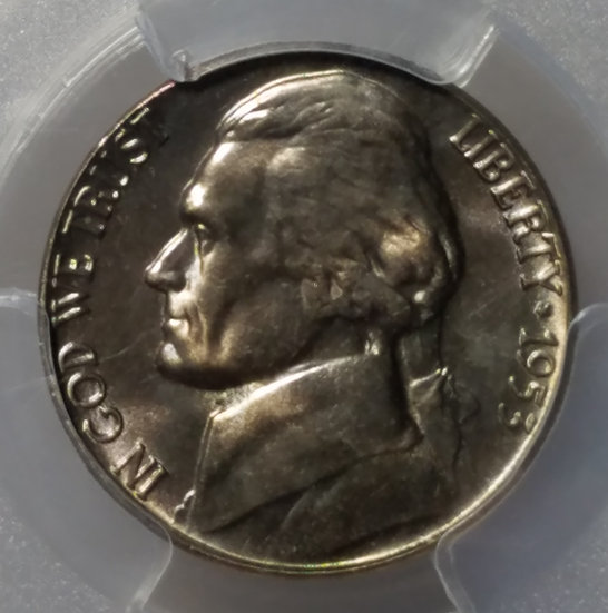 1953 5¢ Jefferson Nickel PCGS MS66