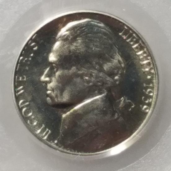 1939 reverse of 1938 Jefferson Proof Nickel  PCGS PR64