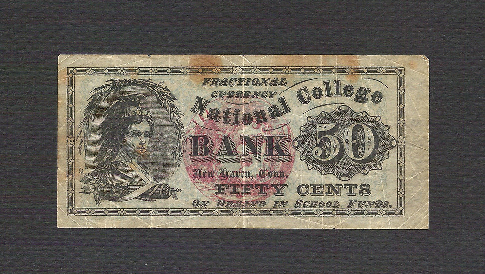 50¢ Fractional look-a-like National College Bank - New Haven CT