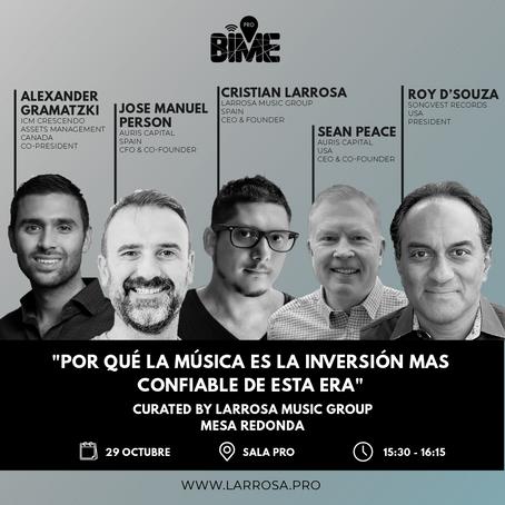 BIME PRO y Larrosa Music Group colaboran para impulsar la innovación y financiación en el sector