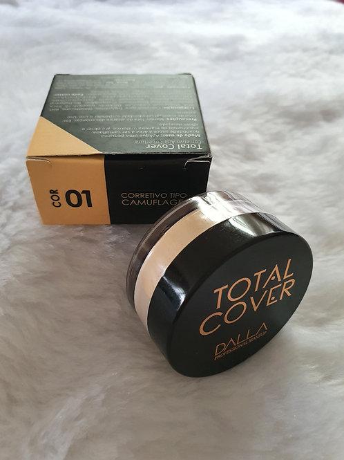 Corretivo Vegano Total Cover Dalla Makeup Cor 01