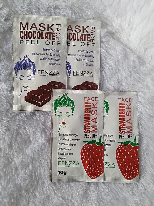 2 Máscaras Morango + 2 Máscaras Chocolate Fenzza