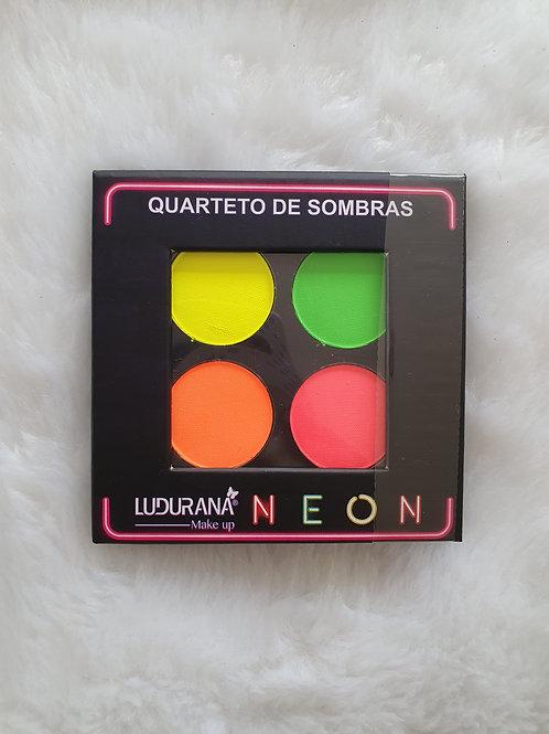Paleta Quarteto Neon 04 cores Ludurana
