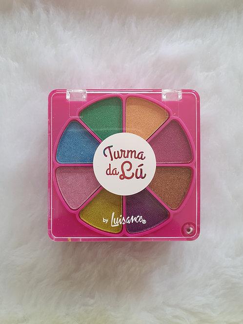 """Kit Maquiagem Quadradinho """"Turma da Lú"""" Rosa"""