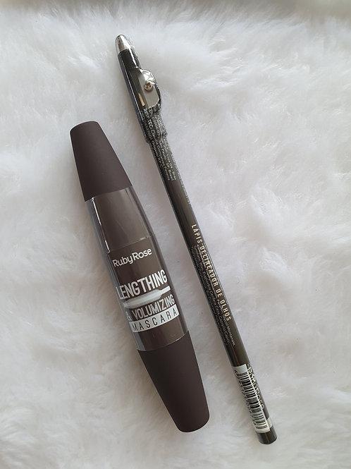 Rimel + Lápis com Apontador Ruby Rose