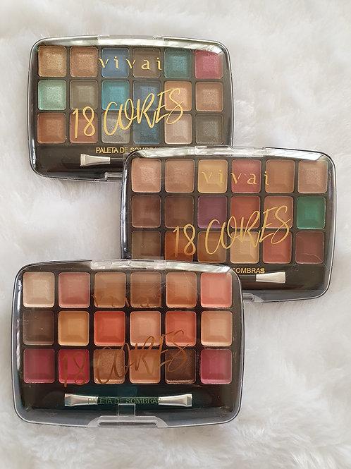 3 Paletas Vivai 18 cores