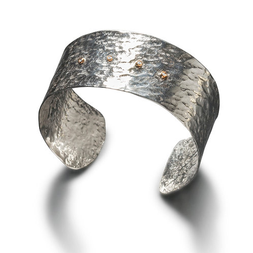 Silver Cuff with Diamonds