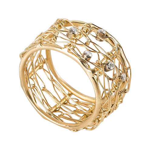 18K Yellow Gold Cressida Ring